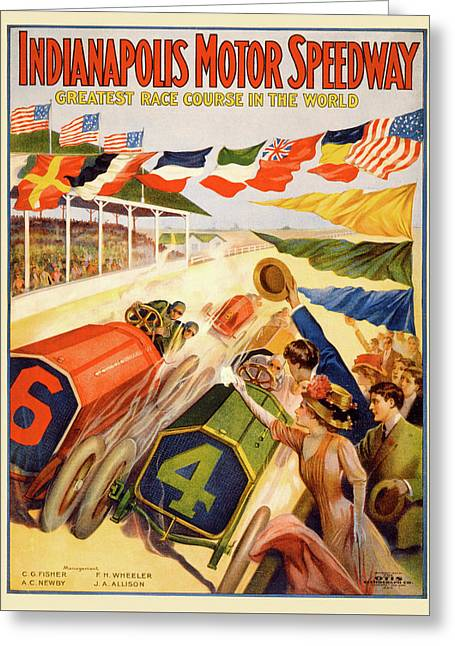 The Speedway Greeting Card