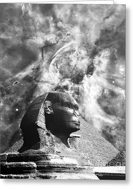 The Sphinx Mistery Greeting Card by Stefano Senise