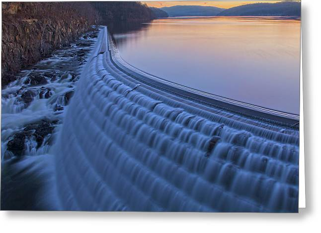The Spillway At Dawn Greeting Card