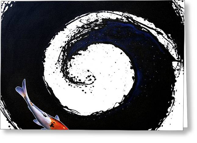 The Spiral 2 Greeting Card by Sandi Baker