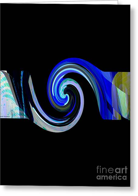 The Spiral Greeting Card by Thibault Toussaint