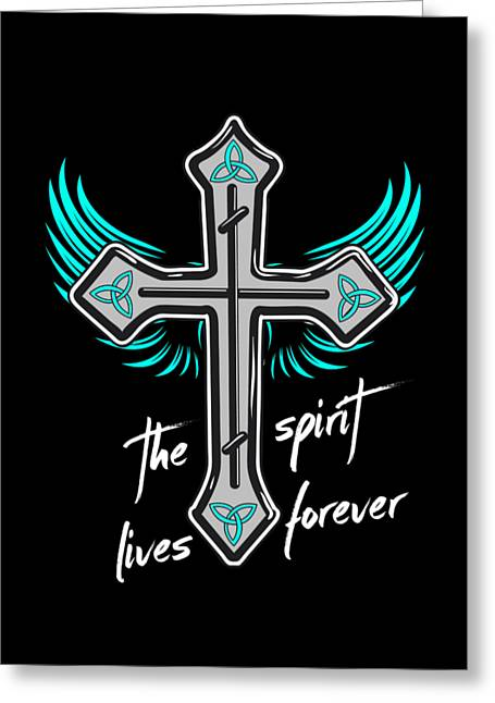 The Spirit Lives Forever II Greeting Card by Melanie Viola
