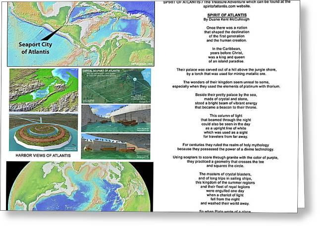 The Spirit Of Atlantis Poem Greeting Card