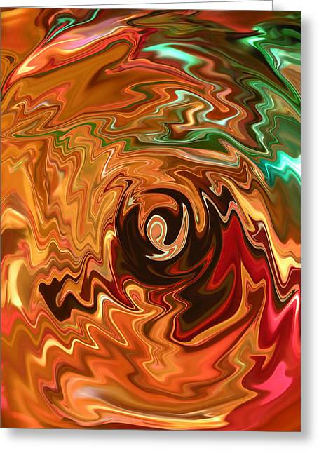 The Spirit Of Christmas - Abstract Art Greeting Card by Carol Groenen