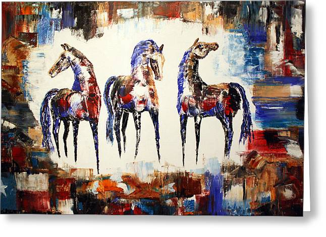 The Spirit Of Texas Horses Greeting Card