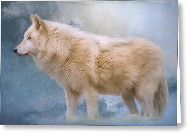 The Spirit Within - Arctic Wolf Art Greeting Card by Jordan Blackstone