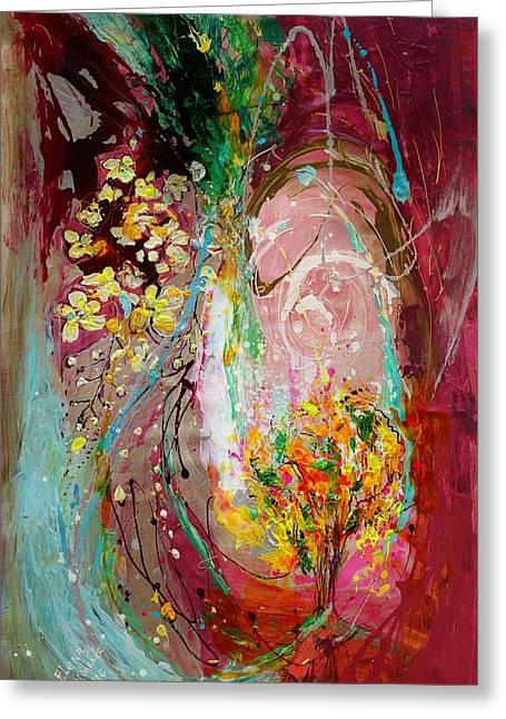 The Splash Of Life 23. The Tree Of Golden Rain Greeting Card by Elena Kotliarker