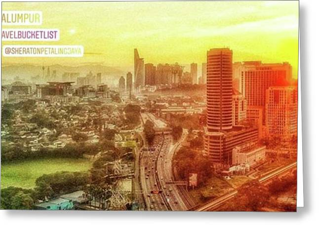 The Splendor Of A Sunrise In Any City Greeting Card