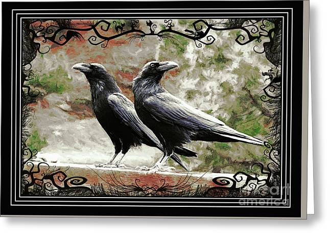 The Spooky Ravens Greeting Card