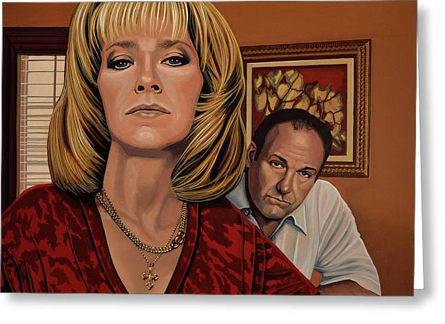 The Sopranos Painting Greeting Card