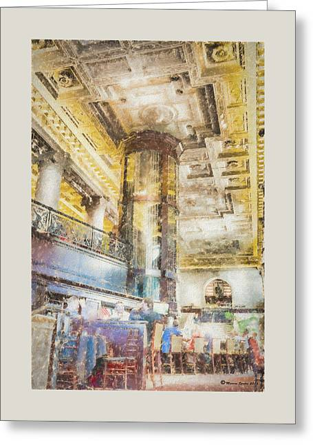 The Sprial Wine Cellar Greeting Card by Marvin Spates