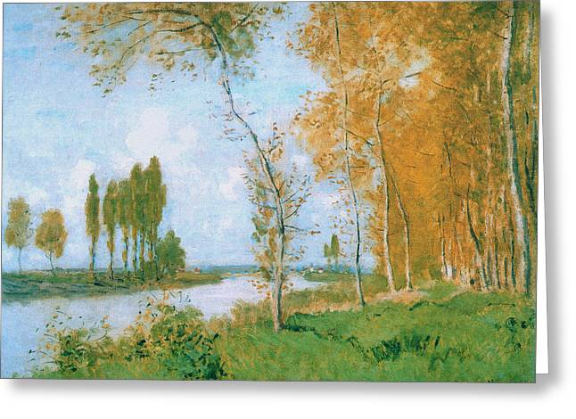 The Spring In Argentuil, 1872 Greeting Card by Claude Monet