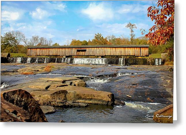 The Square Dance Venue Watson Mill Covered Bridge Greeting Card by Reid Callaway