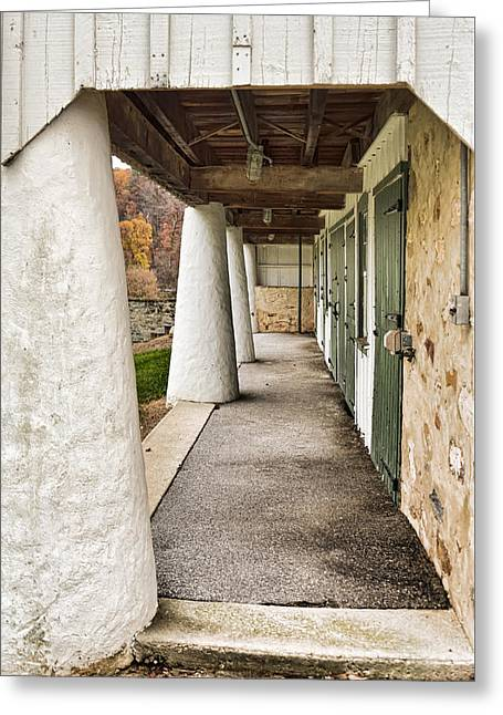 Greeting Card featuring the photograph The Stable by Robert Culver