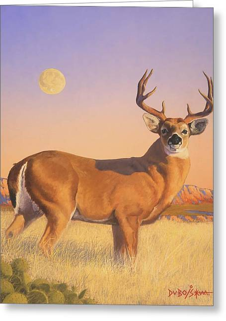 The Stag Greeting Card by Howard Dubois