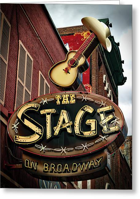 The Stage On Broadway Greeting Card by Mountain Dreams