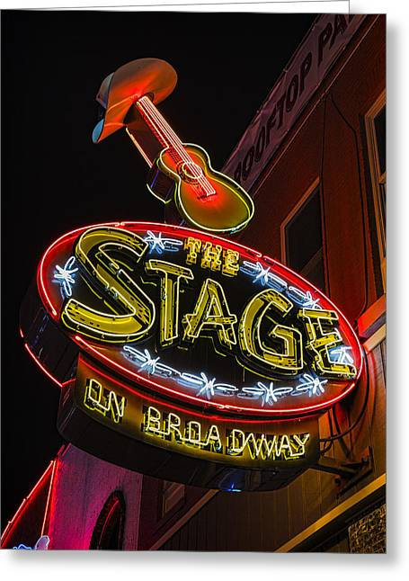 The Stage On Broadway Greeting Card by Stephen Stookey