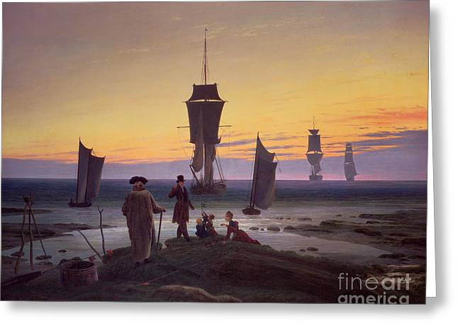 The Stages Of Life Greeting Card by Caspar David Friedrich