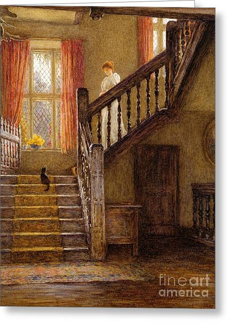 The Staircase Whittington Court Greeting Card