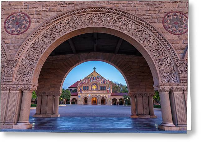 The Stanford Church 1 Greeting Card by Jonathan Nguyen