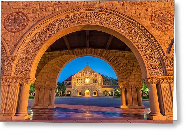 The Stanford Church 2 Greeting Card by Jonathan Nguyen