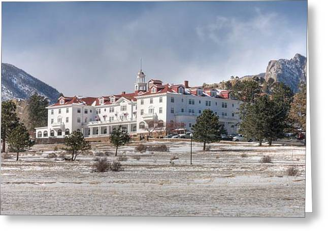 The Stanley Hotel Greeting Card by G Wigler