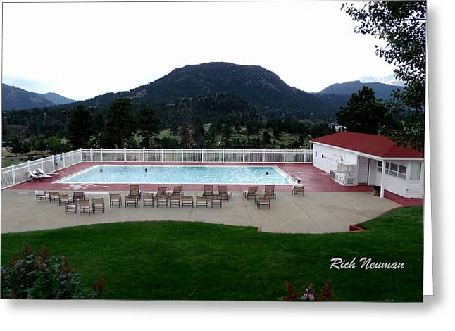 The Stanley Hotel Pool Greeting Card