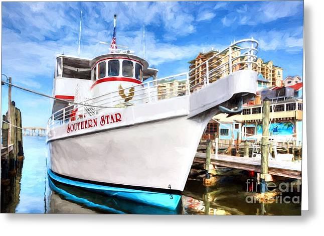 The Star Of Destin Harbor Greeting Card by Mel Steinhauer