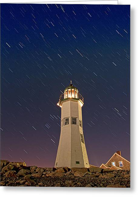 The Star Of Old Scituate Light Greeting Card
