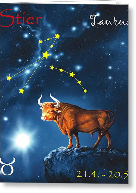 The Star Taurus Greeting Card