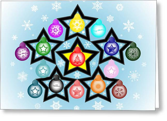 The Stars Align For Christmas Greeting Card by Brian Wallace