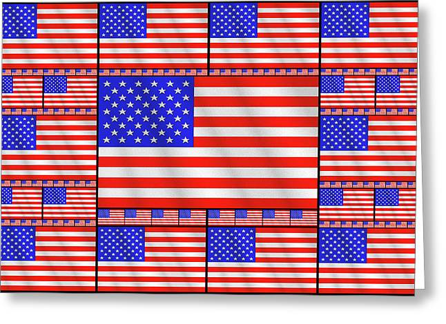 The Stars And Stripes 2 Greeting Card by Mike McGlothlen