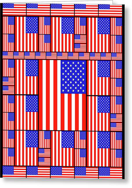 The Stars And Stripes 3 Greeting Card by Mike McGlothlen