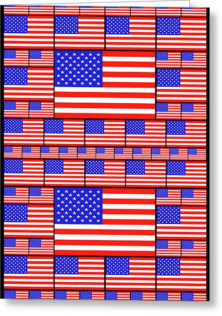 The Stars And Stripes 4 Greeting Card by Mike McGlothlen