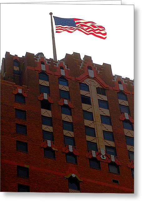 The Stars And Stripes Has Waved Above Greeting Card