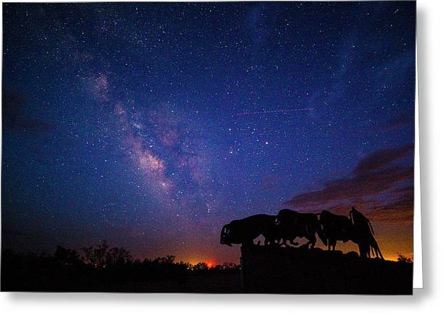 The Stars At Night Are Big And Bright Greeting Card by Stephen Stookey