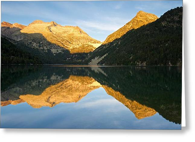 The Start Of A New Day At Lac D'oredon Greeting Card by Stephen Taylor