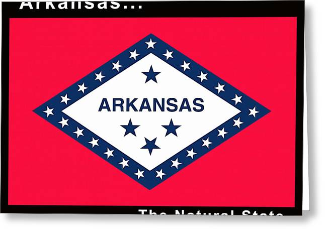 The State Flag Of Arkansas Greeting Card by Floyd Snyder