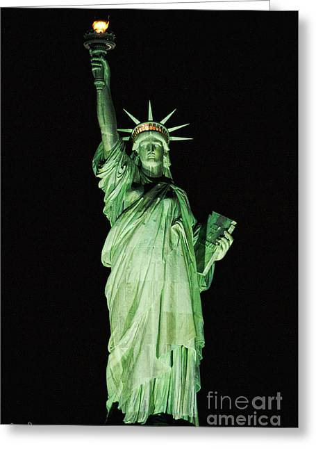 The Statue Of Liberty #1 Greeting Card by Julian Starks