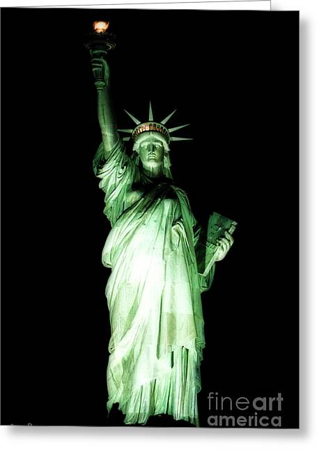 The Statue Of Liberty #2 Greeting Card by Julian Starks