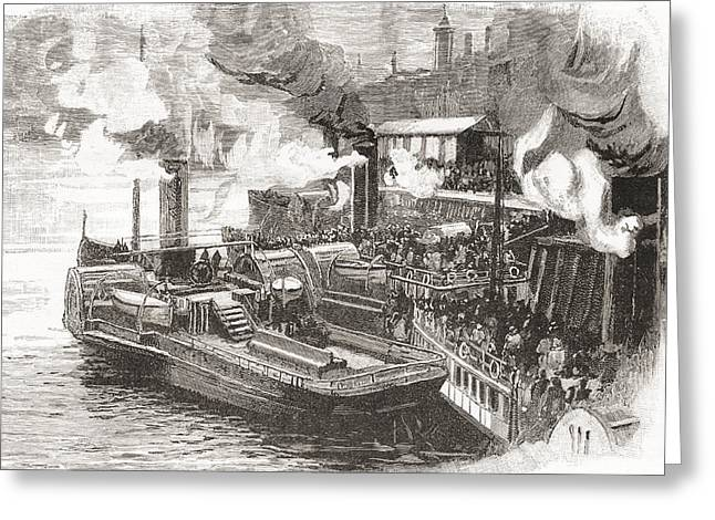 The Steamboat Quay At The Broomielaw Greeting Card