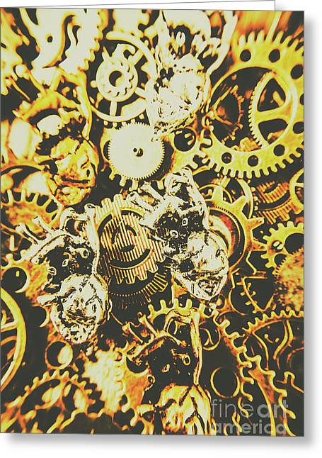 The Steampunk Heart Design Greeting Card