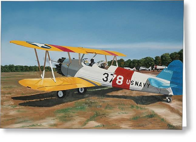 The Stearman Greeting Card by Kenneth Young