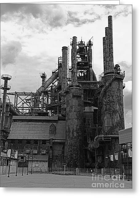 The Steel Stacks 1 Greeting Card by Paul Ward