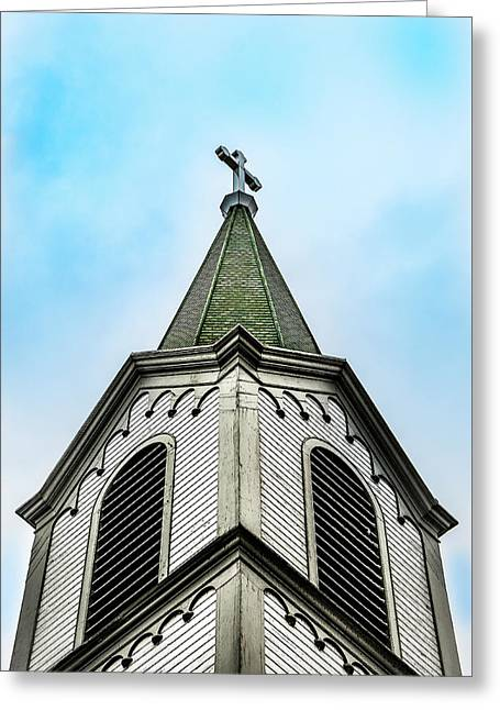 Greeting Card featuring the photograph The Steeple by Onyonet  Photo Studios