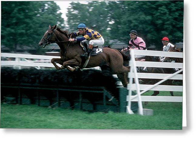 The Steeplechase Greeting Card by Marc Bittan