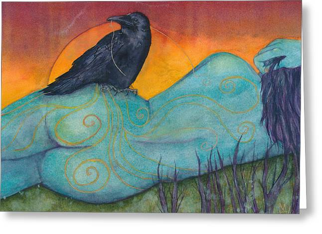 The Still Life With Crow Greeting Card