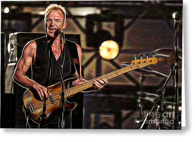 Sting Collection Greeting Card
