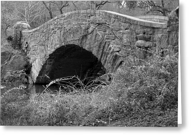 The Stone Bridge Greeting Card by Dennis Curry