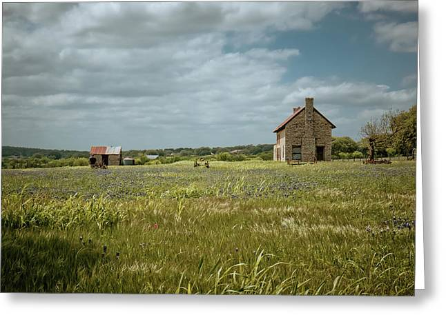 Greeting Card featuring the photograph The Stone House by Linda Unger